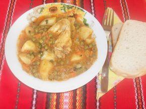 Снимка 2 от рецепта за Картофена яхния с грах