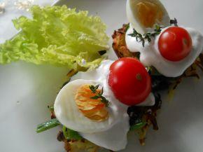 Снимка 3 от рецепта за Картофени гнезда със спанак и сметана
