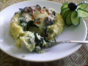 Снимка 2 от рецепта за Картофени гнезда със спанак