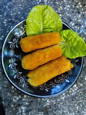 Снимка 2 от рецепта за Картофени крокети с шунка