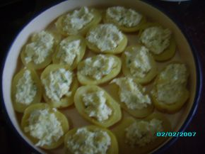 Снимка 3 от рецепта за Картофени лодки с млечна плънка