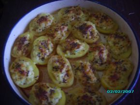 Снимка 4 от рецепта за Картофени лодки с млечна плънка