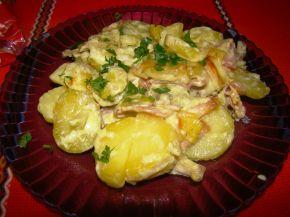 Снимка 2 от рецепта за Картофи с бекон и сметана