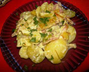 Снимка 3 от рецепта за Картофи с бекон и сметана