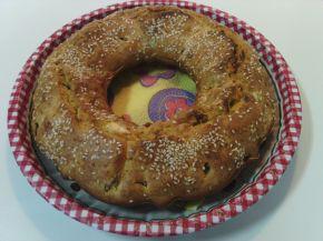 Снимка 4 от рецепта за Кекс със сирене, кашкавал, шпек и сушени домати