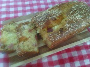 Снимка 2 от рецепта за Кекс със сирене, шварцвалдска шунка и бял сусам