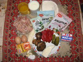 Снимка 3 от рецепта за Кексов венец с пилешко, гъби и още вкусове