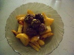 Снимка 7 от рецепта за Кюфтенца с картофи на фурна