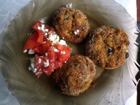 Снимка 3 от рецепта за Кюфтенца от кайма, зеленчуци и извара