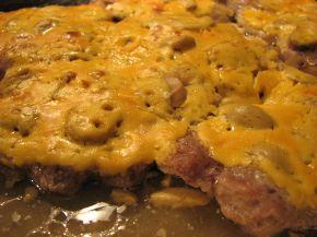 Снимка 2 от рецепта за Крехки пържоли с топено сирене на фурна