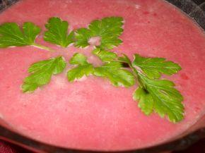 Снимка 2 от рецепта за Лека крем супа от замразени зеленчуци и червено цвекло