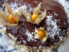 Снимка 1 от рецепта за Лесна шоколадова торта с физалис
