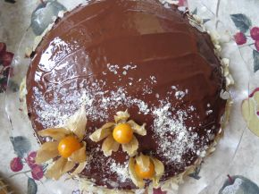 Снимка 2 от рецепта за Лесна шоколадова торта с физалис