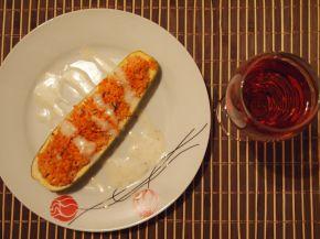 Снимка 3 от рецепта за Лодки от тиквички и чушки пълнени с ориз и пиле