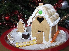 Снимка 1 от рецепта за Медена коледна къщичка