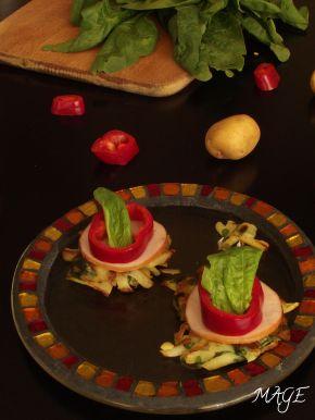 Снимка 3 от рецепта за Мини картофени палачинки с пилешко месо