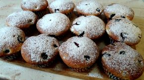 Снимка 8 от рецепта за Мъфини с боровинки