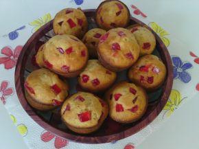 Снимка 3 от рецепта за Мъфини с локум от нар, орехи и тръстикова захар
