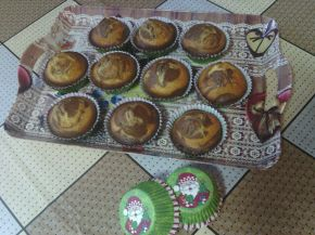 Снимка 2 от рецепта за Мъфини с портокалов сок и какао