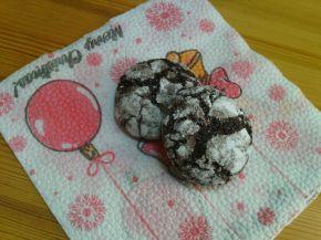 Снимка 4 от рецепта за Напукани какаови сладки с орехи