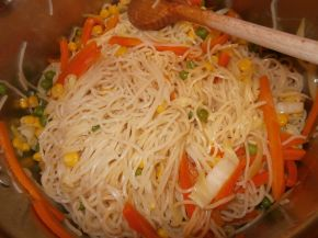 Снимка 2 от рецепта за Нудели със зеленчуци