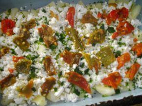 Снимка 2 от рецепта за Огретен от картофи, сирене и печени чушки