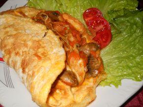 Снимка 5 от рецепта за Омлет с плънка от гъби, моркови и сирене Едам