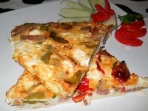 Снимка 4 от рецепта за Омлет със зеленчуци и колбас на фурна