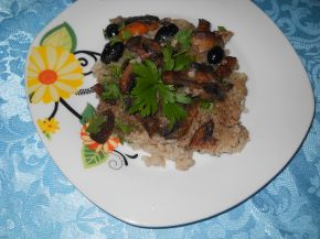 Снимка 3 от рецепта за Ориз с гъби, моркови и маслини