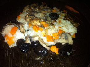Снимка 4 от рецепта за Ориз с гъби, моркови и маслини