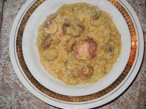 Снимка 3 от рецепта за Ориз с пилешко, гъби и къри
