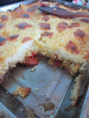 Снимка 7 от рецепта за Ориз със сирене и зеленчуци на фурна