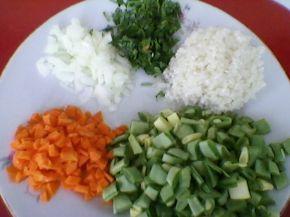 Снимка 2 от рецепта за Оризов пудинг със зелен фасул