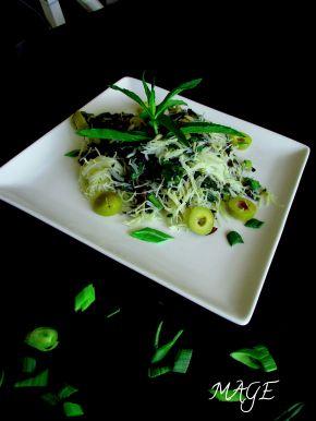 Снимка 2 от рецепта за Оризови спагети със спанак и песто