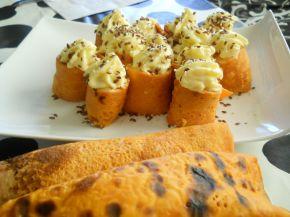 Снимка 4 от рецепта за Палачинки с доматено пюре и пълнеж от картофено пюре и сирене