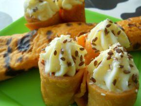 Снимка 5 от рецепта за Палачинки с доматено пюре и пълнеж от картофено пюре и сирене