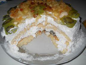 Снимка 4 от рецепта за Пандишпанена торта `Екзотик`