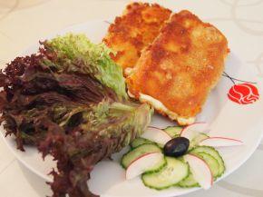 Снимка 2 от рецепта за Паниран кашкавал с шунка