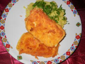 Снимка 2 от рецепта за Паниран кашкавал върху канапе от картофено пюре