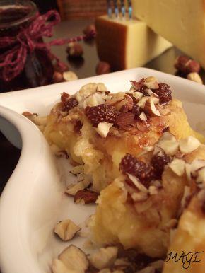 Снимка 2 от рецепта за Панирана пушена гауда със сладко от горски плодове