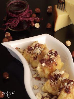 Снимка 3 от рецепта за Панирана пушена гауда със сладко от горски плодове
