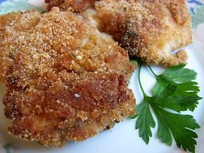 Снимка 1 от рецепта за Панирано пиле на фурна