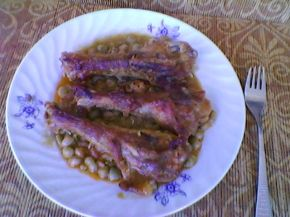 Снимка 7 от рецепта за Патешко с грах