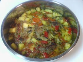 Снимка 4 от рецепта за Патешко със зеленчуци