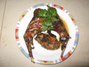 Снимка 3 от рецепта за Печен заек с гъша мас в йена стъкло