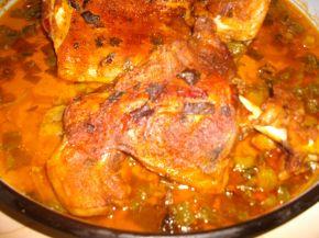 Снимка 2 от рецепта за Печена агнешка плешка на фурна