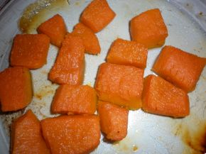 Снимка 2 от рецепта за Печена тиква с фолио