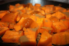 Снимка 4 от рецепта за Печена тиква с канела и мед