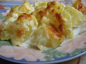 Снимка 1 от рецепта за Печени картофи със сметана