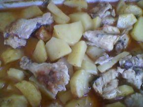 Снимка 7 от рецепта за Печени пилешки бутчета с картофи